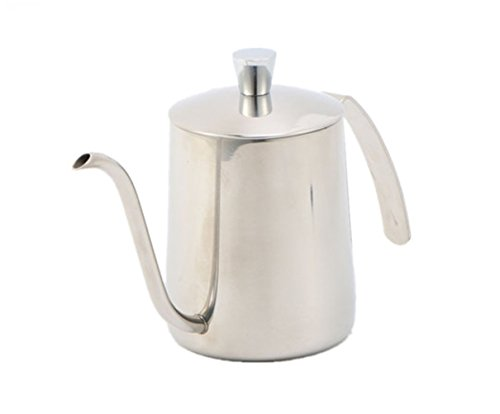 LianShi Stainless Steel Coffee Pot with Lid Coffee Pot for Cafe Home Kitchen 350ml