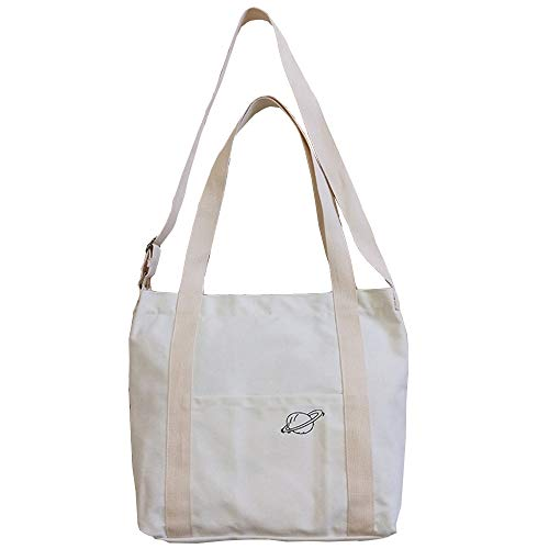 White Canvas Tote Bag Handbag Shoulder Bag Crossbody Bags Purses Women Canvas Bag Cotton Tote Bag Cotton Crossbody Bag Light Across The Shoulder Bags For Women Canvas Tote Handbag Medium Tote Purse