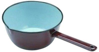 konisch mit Ausgie/ßnase IBILI 915018 Stielkasserolle 18 cm Edelstahl emailliert