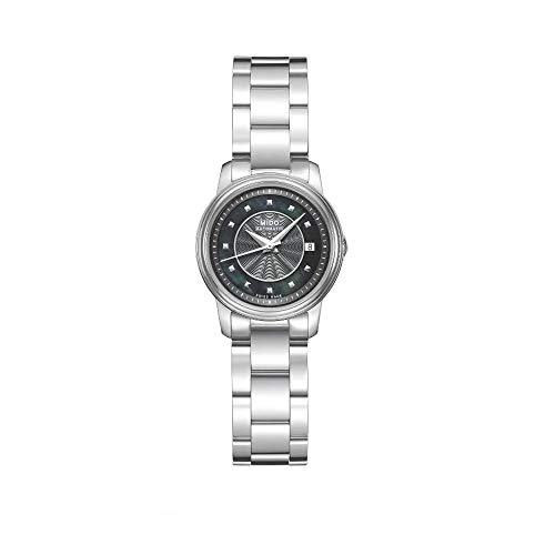 Mido Baroncelli Mother of Pearl Dial Stainless Steel Ladies Watch M0100071112100