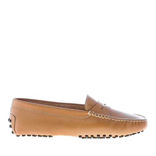 Xxw00g00010d90s405 Penny Leather Shoes Gommini Kenia Loafer Brown Tod's Women ZHqp8