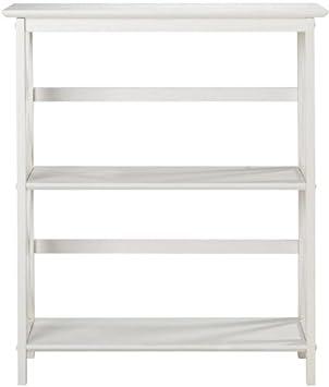 Montego 2 shelf Bookcase, LOW, WHITE