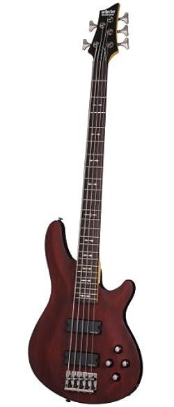 Schecter OMEN-5 5-String Bass Guitar, Walnut Satin