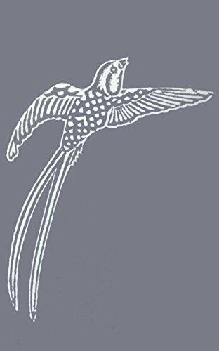 Robe de Chambre- Oiseau Blanc à Longue Queue sur Fond gris