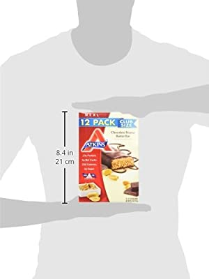 Atkins Advantage Bars, Chocolate Peanut Butter , 2.1-Ounce Bars (Pack of 12)