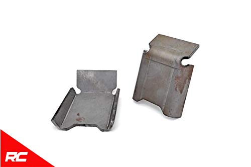 Rough Country Front Lower Control Arm Skid Plates Compatible w/ 2007-2018 Jeep Wrangler JK Armor 792 ()