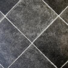 eXtreme® Black Diamond Tile Effect Vinyl Flooring- Kitchen Vinyl ...