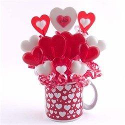 (Hearts and Hugs Lollipop Bouquet)