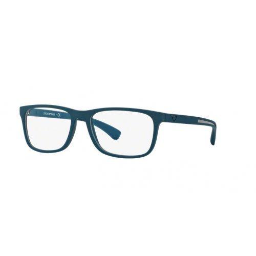 Armani EA3092 Eyeglass Frames 5538-56 - Petroleum - Armani Frame Emporio Eyeglasses