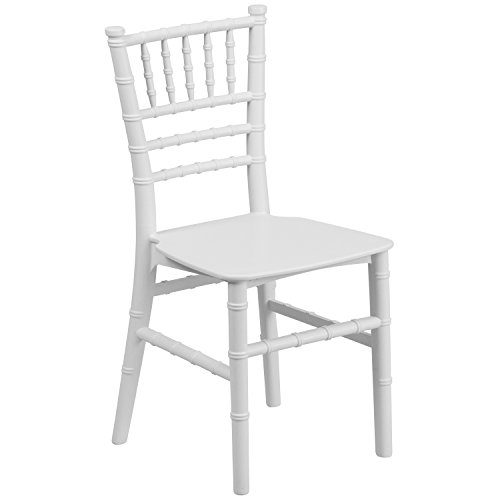 Flash Furniture Kids White Resin Chiavari Chair (Banquette Chair)