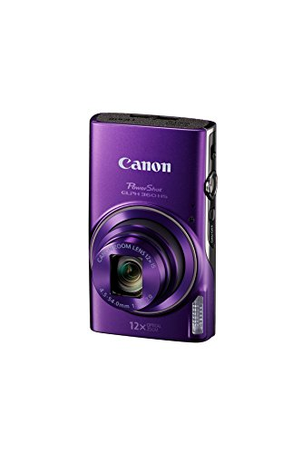 Canon PowerShot ELPH 360 Digital Camera w/ 12x Optical Zoom and Image Stabilization – Wi-Fi & NFC Enabled (Purple)