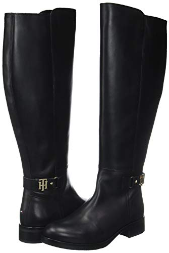 Hilfiger Hautes Buckle Bottes Femme High Tommy black Noir 990 Boot Th dqwn6OY1
