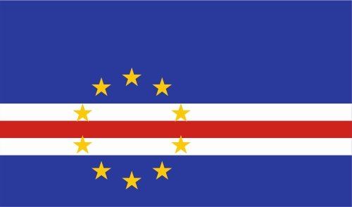 Santo Antao Cape (carsticker flag decal sticker colors in two sizes Cape Verde laminated very long durable)