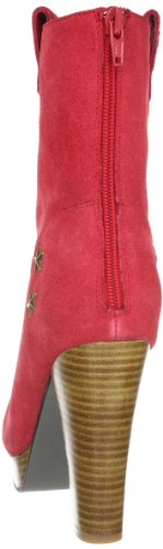 Lise Lindvig Saga 12220050, Stivaletti donna Rosso (Rot (Red))