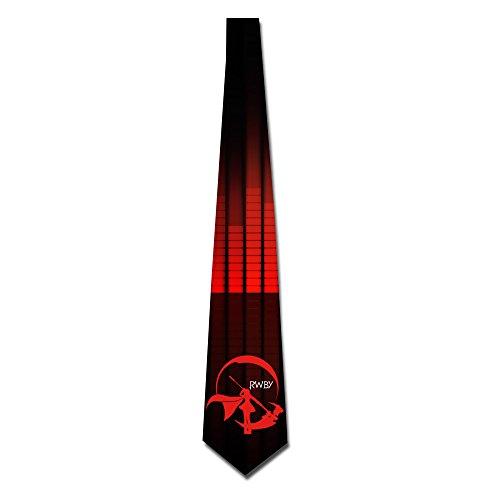 ONESEDA Men`s Rwby Red Trailer Tie Necktie Ties