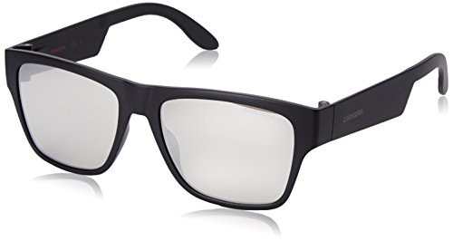 Carrera CA5002ST Rectangular Sunglasses, Matte Black & Silver Mirror, 55 mm