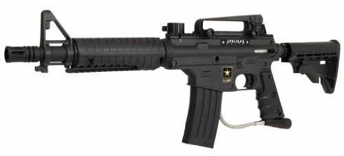 US Army Alpha Elite Paintball Marker with E-Grip, Black