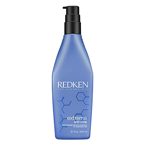 Redken Extreme Anti-Snap Anti-Breakage Leave-In Treatment | For Distressed Hair | Fortifies Hair & Helps Reduce Breakage…