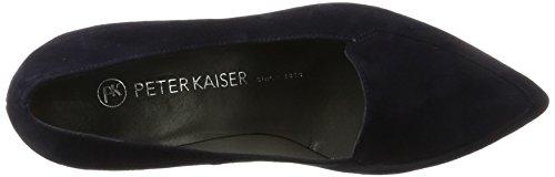 Cerrada Punta Peter con Nadame Mujer Kaiser Suede Navy Azul para de Tacón Zapatos 0HA0xf