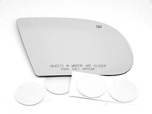 VAM Fits 1999-2005 S10, Blazer, Jimmy, Sonoma, 99-01 Olds Bravada Right Passenger Convex Heated Mirror Glass Lens w/Adhesive - Passenger Mirror S10 Glass