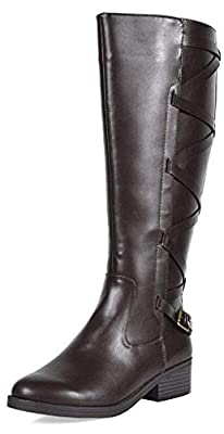 TOETOS Women's Knee High Riding Boots Wide Calf