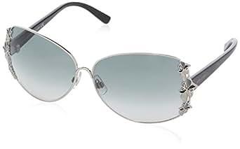 Swarovski - Gafas de sol Ovaladas SK0010 para mujer, 16B Transparent Grey / Black