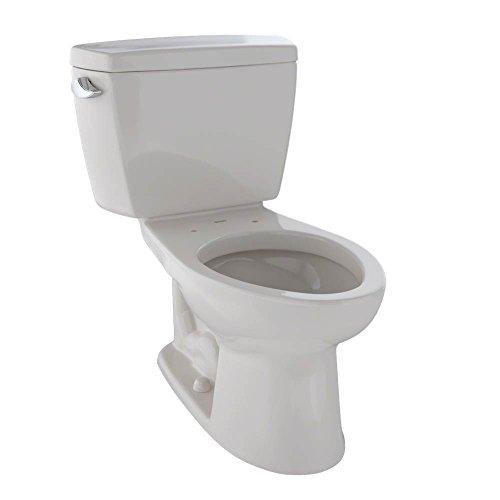 Drake Eco 1.28 GPF Elongated 2 Piece Toilet Trip Lever Orientation: Left-Hand, Toilet Finish: Sedona Beige