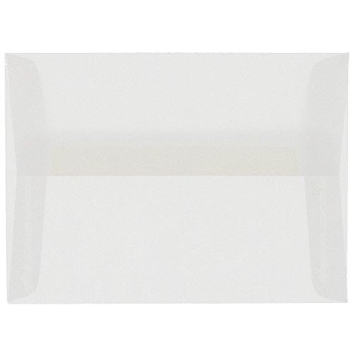 JAM PAPER A10 Translucent Vellum Invitation Envelopes - 6 x 9 1/2 - Clear - 25/Pack Blue Translucent Vellum Envelope