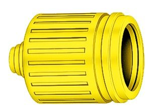 Short Yellow Weatherproof Boot for 15AMP InsulgripDevices