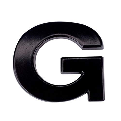 Boddenly A-Z Car Sticker 1PC 3D DIY Metallic Alphabet Bumper Motorcycle Sticker Wall Window Sticker Laptop Emblem Letter Badge Decal Black 0.98x0.87x0.12'' (G)