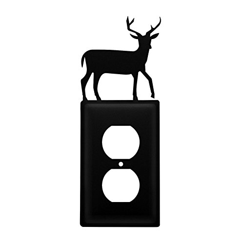 Electric Iron Switch (Iron Deer Outlet Cover - Heavy Duty Metal Light Switch Cover, Electrical Outlet Covers, Lightswitch Covers, Wall Plate Cover)
