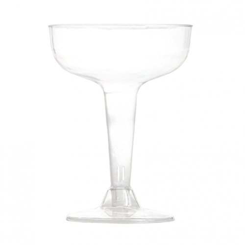 Koyal Wholesale Plastic Wide Mouth Champagne Flutes (Pack of 12), 4 oz.