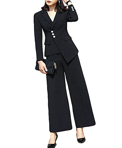 f7c46b515af1 Fitty Lell Women s 2 Pieces Set Slim Fit Formal Business Blazer Pants Suits  with Long Sleeves