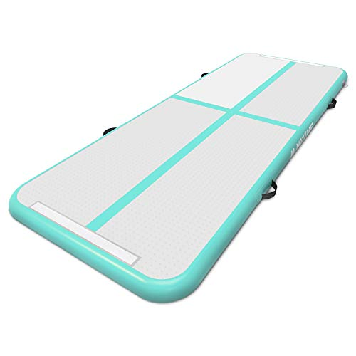 MaxKare Inflatable Gymnastic Air Track Mat 10ft 20ft Gymnastics Tumbling Mat Air Mat with Electric Air Pump for Home Use (10ft)