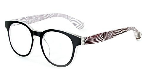 Hipnotix Ultra-Modern Clubmaster Readers for Men and Women (Black/Brown - Dimensions Clubmaster