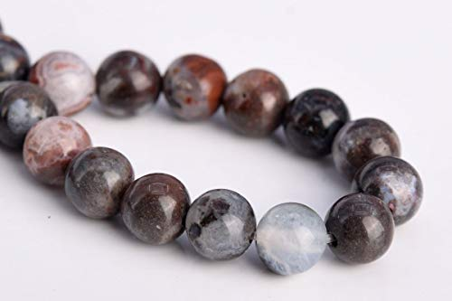 Beads - Bead Jewelry - Beads for Women Men - Cute - Natural Black Zebra Agate Gemstone Loose 31 pcs