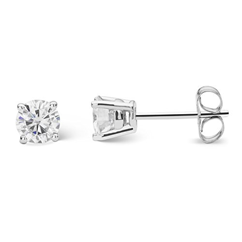 Forever Classic 4.5mm Round Cut Moissanite Stud Earrings, 0.66cttw DEW by Charles & Colvard