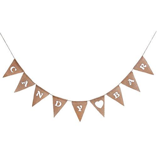 LUOEM Candy Bar Bunting Banner Haning Sign for Wedding Birthday Party -