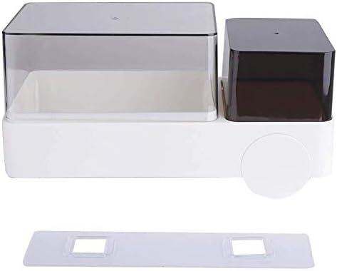 ZJN-JN ティッシュホルダー 浴室用 ティッシュボックス、浴室のための現代防水可視長方形プラスチック紙のティッシュボックスカバーホルダー