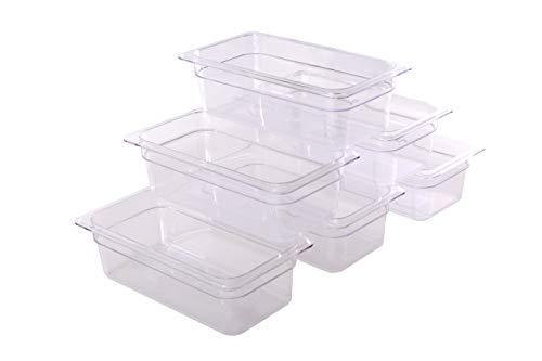 - Hakka 1/3 Size Polycarbonate Gastronorm Pans,4