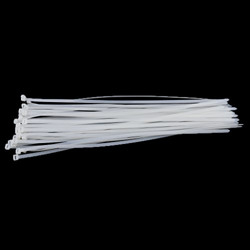 Dovewill Durable 100 Pieces 20inch Nylon Cable Zip Ties Heavy Duty Self Locking Ties for Workshop White by Dovewill (Image #2)
