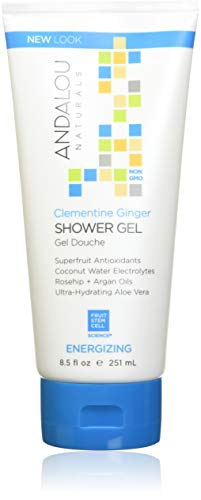 Andalou Naturals Clementine Ginger Energizing Shower Gel, 8.5 Fluid Ounce Body Wash Grapefruit Ginger