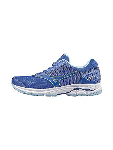 Mizuno Women's Wave Rider 21 Running Shoe Athletic Shoe, clover/white, 8.5 B US