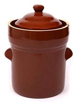 Boleslawiec 10 L Polish Fermenting Crock Pot - PRESSING STONES INCLUDED ()