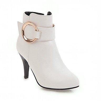 RTRY Zapatos De Mujer De Piel Sintética Pu Novedad Moda Otoño Invierno Confort Botas Botas Stiletto Talón Señaló Toe Botines/Botines De Cremallera US9.5-10 / EU41 / UK7.5-8 / CN42