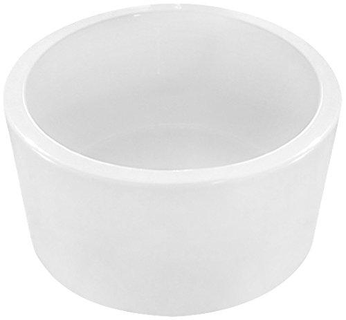 UPC 637509857400, Scarabeo 8808-No Hole Bucket Round Ceramic Vessel Sink, White