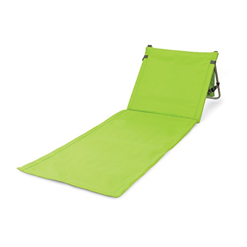 ONIVA - a Picnic Time Brand Beachcomber Portable Beach Mat, Lime Green - Green Dining Frame