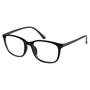 EyeBuyExpress Glasses Men Women RX Round Black Grey Nerdy Retro Eye Flex Frame +8.00