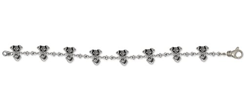 Airedale Terrier Jewelry Sterling Silver Airedale Terrier Bracelet Handmade Dog Jewelry AR7-BR