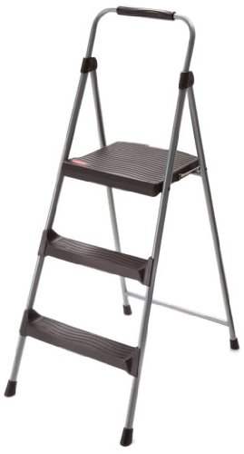 Rubbermaid RM-LWS3 3-Step Lightweight Steel Step Stool